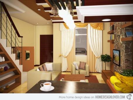 Phòng khách này với thiết kế cổ điển và phù hợp với những ngôi nhà phố có diện tích nhỏ
