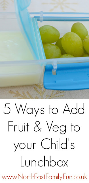 5 ways to add fruit & veg to your child's lunchbox and help them reach 5-a-day