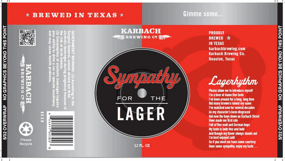 Texas Beer Karbach Sympathy For The Lager