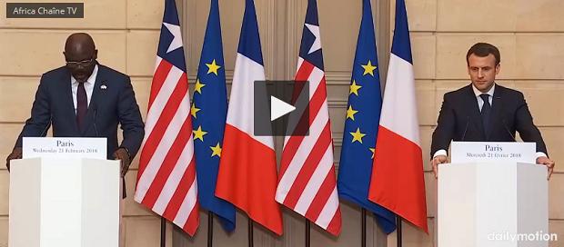 En visite présidentielle en France, George Weah se rappelle de ses débuts à Monaco (Vidéoo)