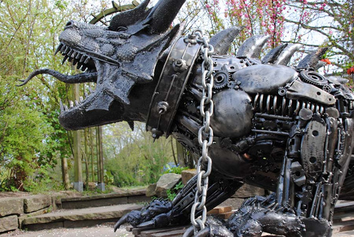 1c-Large-Fantasy-Sculpture-Dragon-Giganten-Aus-Stahl