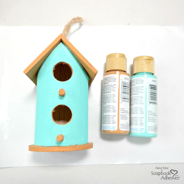 How to Apply Acrylic Paint to a Wood Bird House Chrimstas Ornament