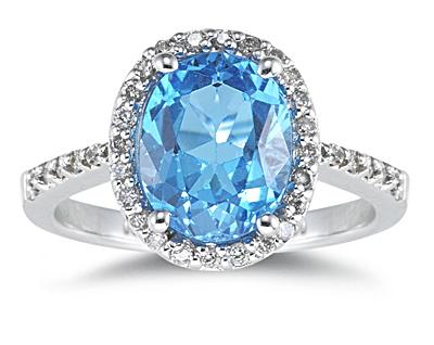 Royal Wedding Accessories Blue Topaz Engagement Rings