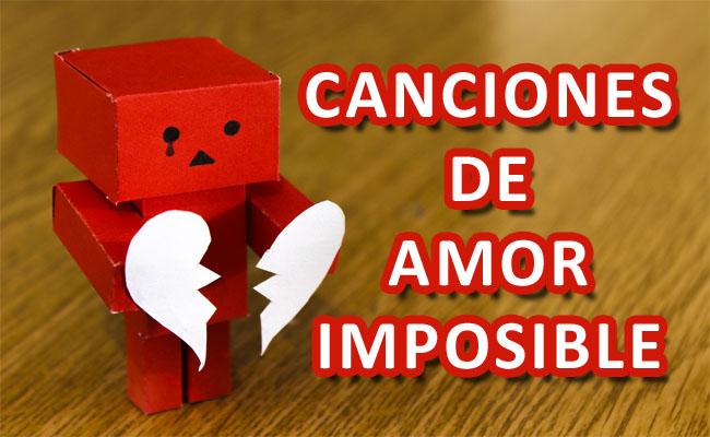 Canciones de amor imposible para todos los gustos