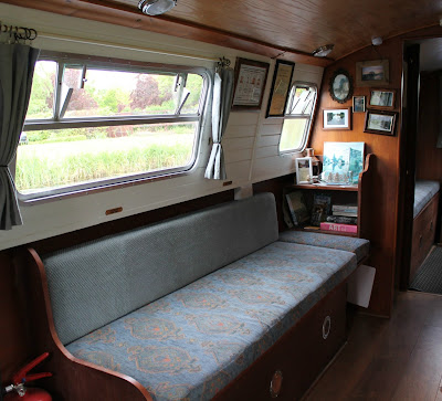 Inside the barge cabin