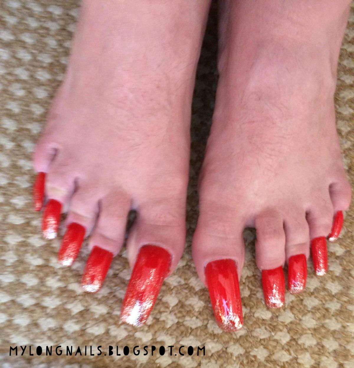 Long Nails: Mari\'s super long toe nails - 1