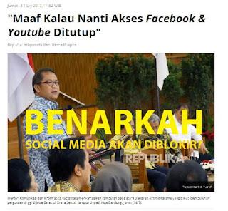 Benarkah Seluruh Social Media akan Diblokir