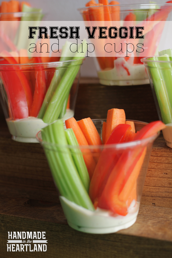Fresh Veggie and Dip Cup