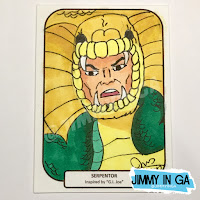 "Serpentor - Copic Makers on 2.5"" x 3.5"" Sketch Cards"
