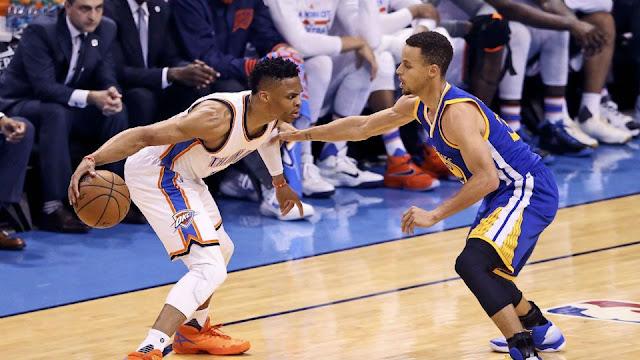 Westbrook et Curry sont les 2 meilleurs meneurs NBA