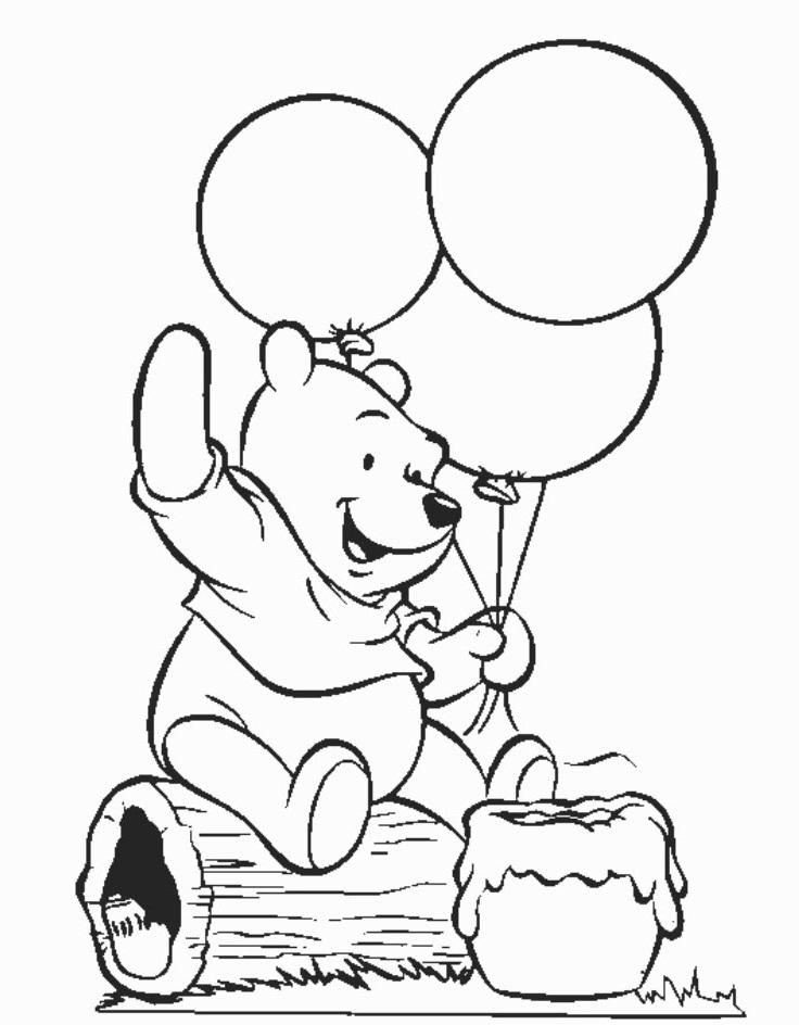 Tranh tô màu chú gấu đáng yêu, dễ thương cho các bé tập tô 15