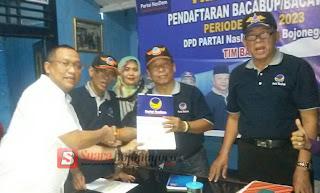 Kang PD Kembalikan Formulir Pendaftaran Penjaringan Bacabup/Bacawabup Di Partai NasDem