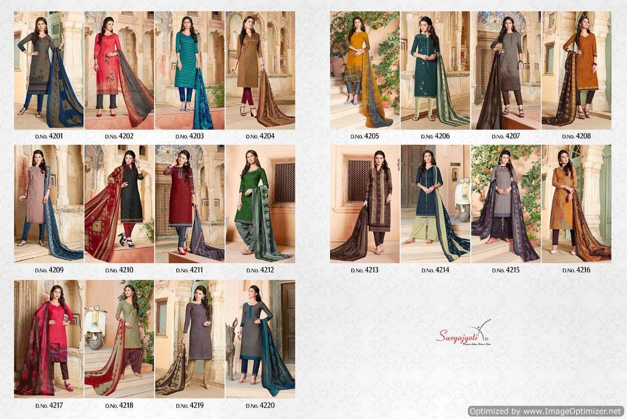 dc5f84fc5e Suryajyoti Trendy vol 42 Cotton Dress Material - Diwan fashion