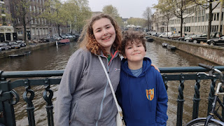 Top Ender and Dan Jon Jr on a Bridge over a Canal in Amsterdam