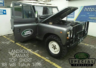LANDROVER CANVAS TOP SHORT 88 WB Tahun 1975