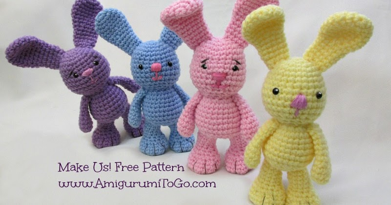 Small Amigurumi Bunny Pattern : Little Bigfoot Bunny Revised 2014 Amigurumi Video Tutorial ...