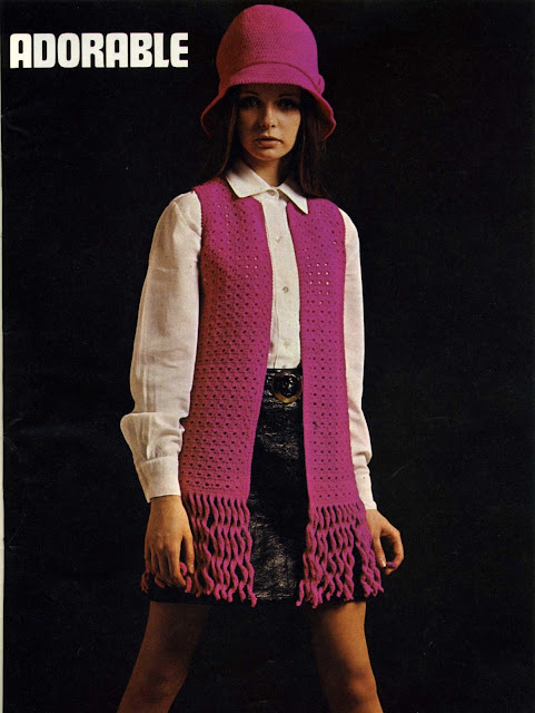 The Vintage Pattern Files: Free 1970's Crochet Pattern - Crochet Hat & Waistcoat