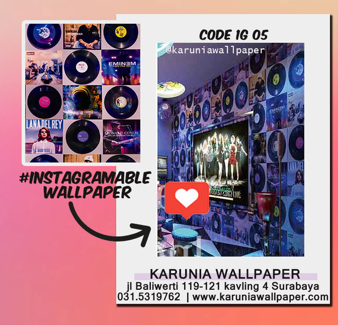 jual dinding wallpaper retro