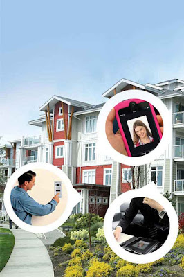 The camera of the video door phone enables the resident to see the visitor at the door but not vice versa.