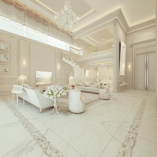 Interior Apartemen dengan Komponen Dekoratif