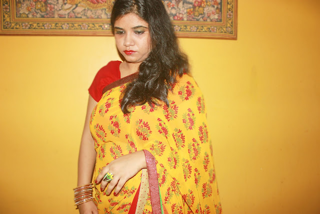 Floral Summer Saree- OOTD Ft Triveni Ethnics