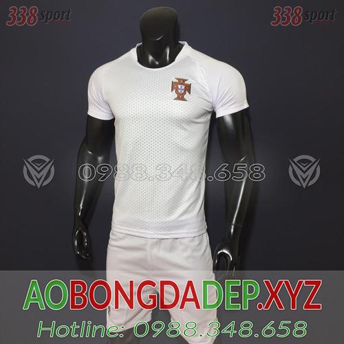 Áo Bồ Đào Nha 2019 Sân Khách Màu Trắng Đẹp
