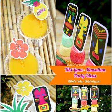 Hawaiian Tiki Luau DIY Party Ideas & Free Printables