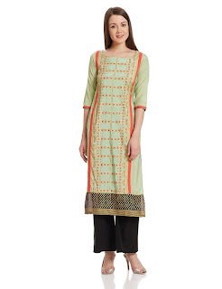 Rs. 1699 Green W Woman Kurta by FashionDiya