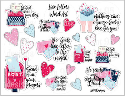 """Love Letters"" Word Art from lot95designs on Etsy"