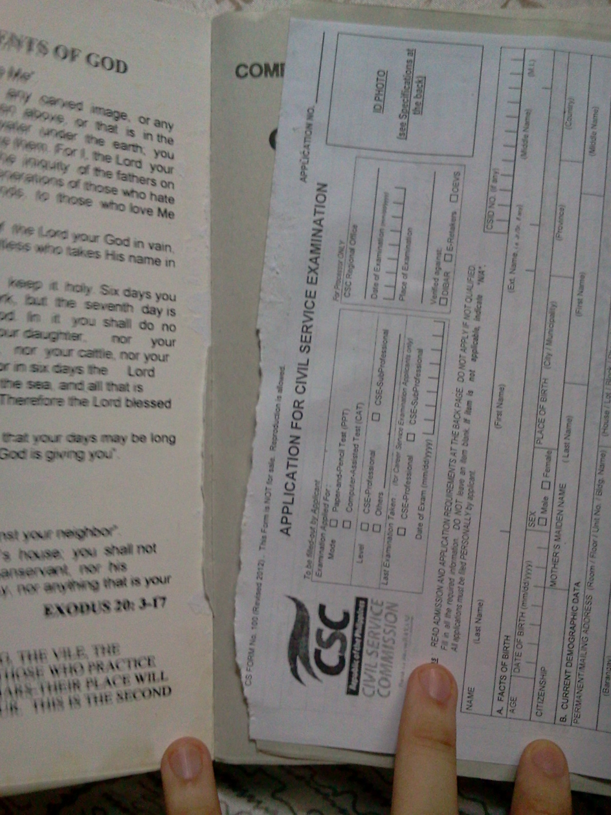 CSC Reviewer by Busto (2013) - Free Form 100 is Poorly Attached