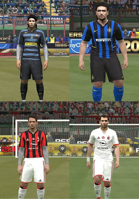 PES 2016 Retro Kits Internazionale and AC Milan by Dartion