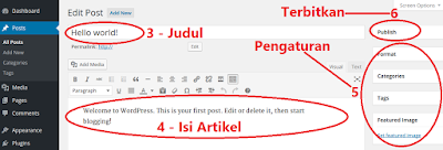 cara posting di blog wordpress 2