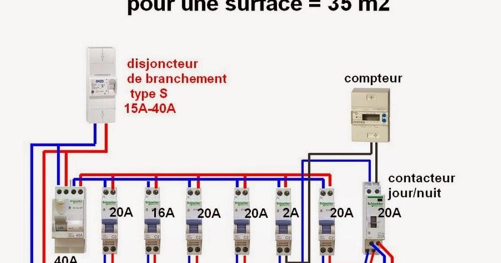 Schema Electrique Branchement Cablage - Photo Tableau Electrique Maison