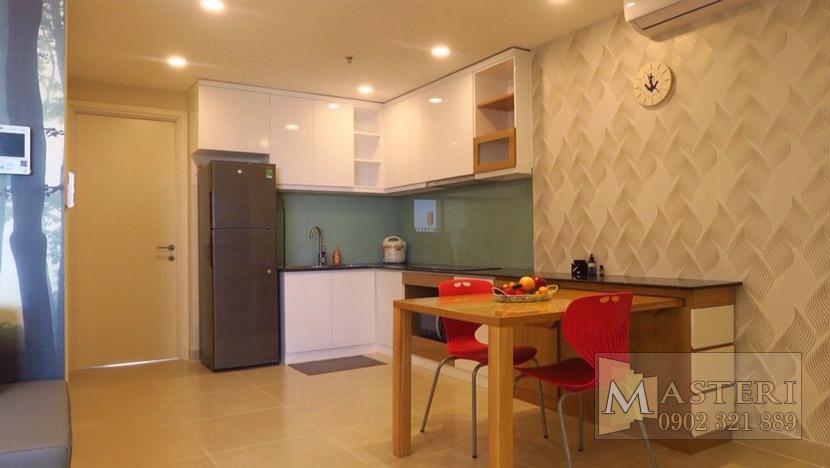 Masteri Thảo Điền căn hộ cho thuê - phòng khách view cửa chính