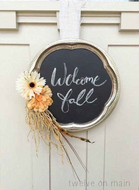 chalkboard fall wreath diy