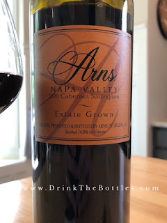 2011 Arns Winery Estate Grown Cabernet Sauvignon Label
