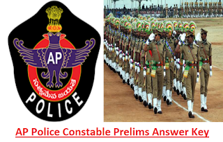 AP Police Constble Prelims Exam Paper and Answer Key PDF-APSLPRB Fireman, Jail Warder Answer Key Exam Date 06-01-2019