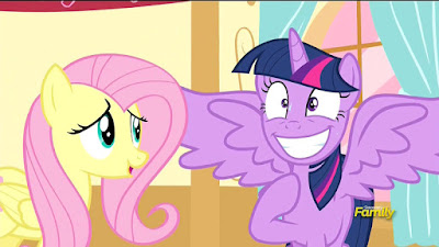 Fluttershy tries to calm Twilight down