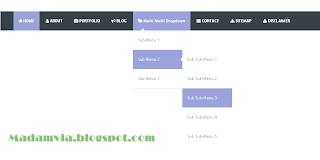 Cara Membuat Menubar Multi Dropdown Di Blog