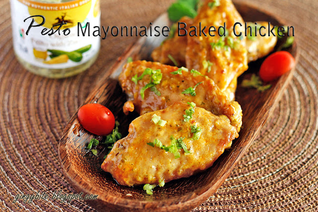 Pesto Mayonnaise Baked Chicken Wings