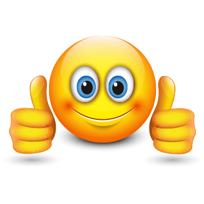 two thumbs up smiley symbols amp emoticons