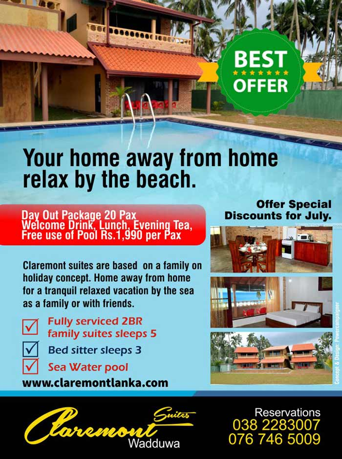 Claremont suites are based  on a family on holiday concept. Home away from home for a tranquil relaxed vacation by the sea as a family or with friends.