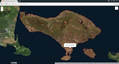 Tampilan WebGIS dengan basemap 2
