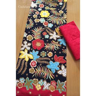 Kain Batik printing bunga