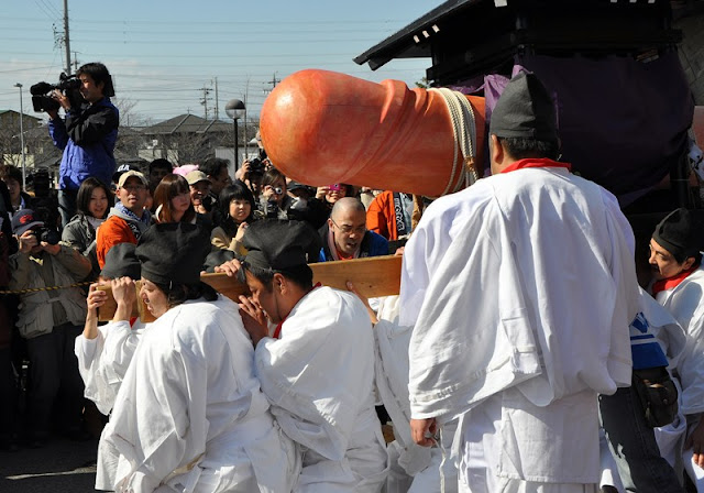 Hounensai (Festival to pray for good harvest) at Tagata Shrine, Komaki City, Aichi