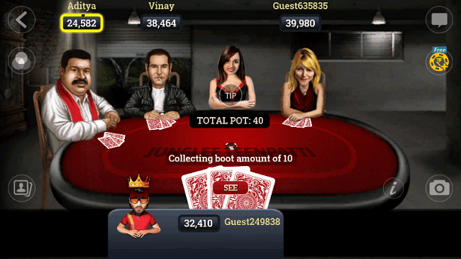 From hitting sixes on the ground to now swiping left Enjoy Poker On Your Mobile With Junglee's Teen Patti 3D