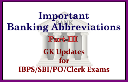 Banking Abbreviations part3