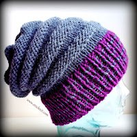 how to knit, free knit patterns, slouchy hat, beanie,