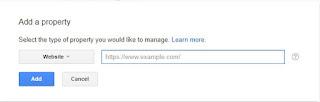 Cara menambahkan URL situs di Google search console