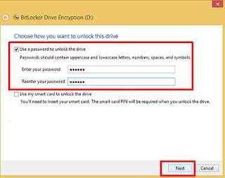 cara kasih password untuk flashdisk